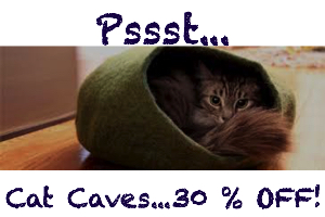 Cat caves, cat beds