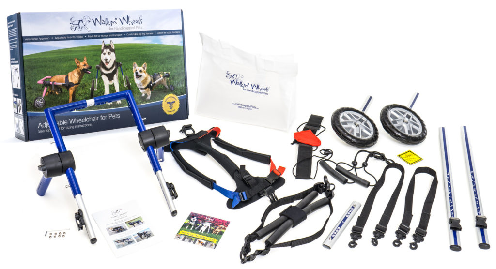 Walkin' Wheels Dog Wheelchair Kit Items